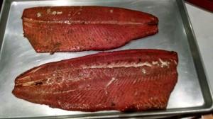 Smoked Salmon fresh off the Smoker